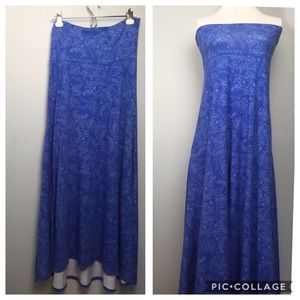 Periwinkle Floral Maxi Strapless Dress LulaRoe